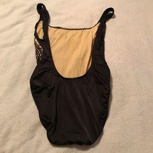 82f5f47538e36 Carabella Swim - Vintage Carabella Budweiser Gold Black Swimsuit